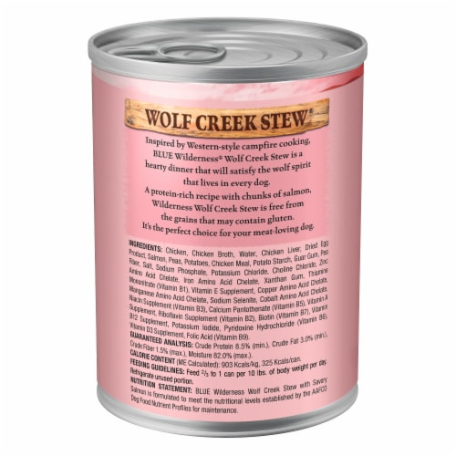 Blue Wilderness Wolf Creek Stew with Salmon Wet Dog Food Perspective: back