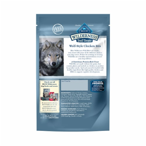 Blue Wilderness Trail Treats Chicken Wild Bits Dog Treats Perspective: back