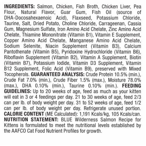 Blue Wilderness Salmon Recipe Wet Kitten Food Perspective: back