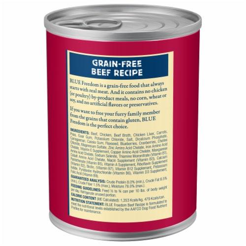 Blue Buffalo Freedom Grain-Free Recipe Dog Food Perspective: back