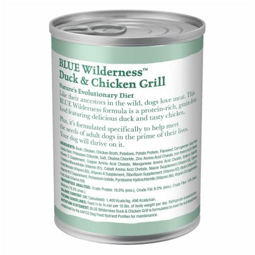 Blue Wilderness Duck & Chicken Grill Wet Dog Food Perspective: back