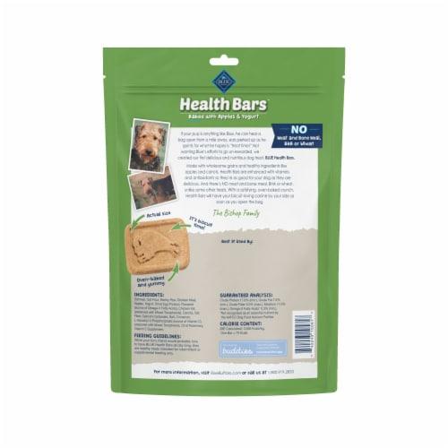 Blue Buffalo Health Bars Apples & Yogurt Natural Dog Biscuits Perspective: back