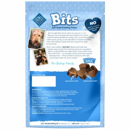 Blue Buffalo Blue Bits Tasty Chicken Recipe Soft-Moist Training Treats Perspective: back