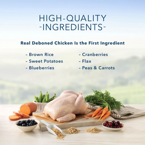 Blue Buffalo Chicken & Brown Rice Recipe Mature Healthy Aging Natural Cat Food Perspective: back