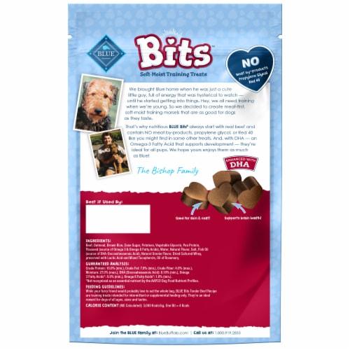 Blue Buffalo Blue Bits Natural Tender Beef Recipe Soft-Moist Training Treats Perspective: back
