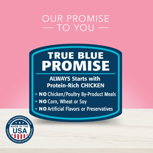 Blue Buffalo True Solutions Blissful Belly Digestive Care Formula Dog Food Perspective: back