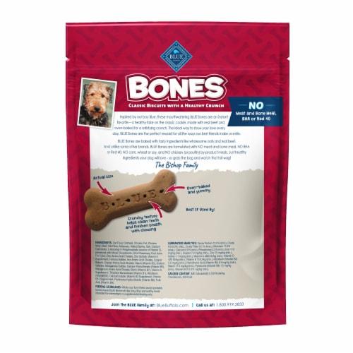 Blue Buffalo Beef Large Dog Biscuit Bones Perspective: back