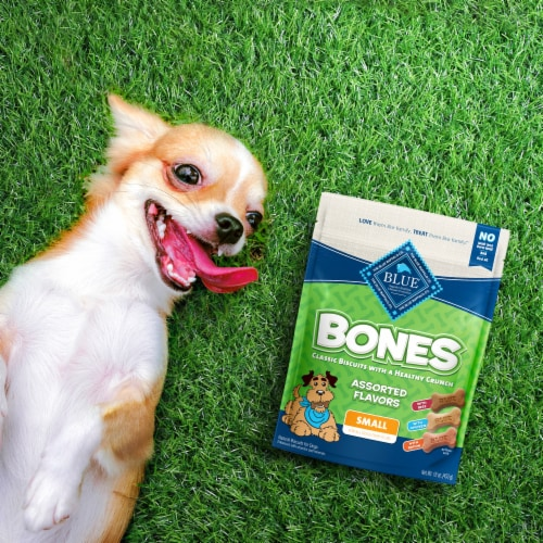 Blue Buffalo Bones Assorted Flavors Small Dog Biscuits Perspective: back