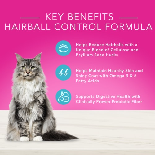 Blue Buffalo True Solutions Hairball Control Natural Food for Adult Cats Perspective: back