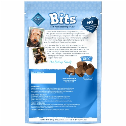 Blue Buffalo Bits Tasty Chicken Recipe Soft Moist Dog Training Treats Perspective: back