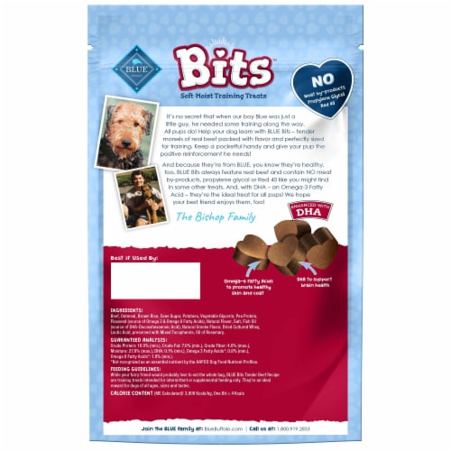 Blue Buffalo Bits Tender Beef Recipe Soft Moist Dog Training Treats Perspective: back