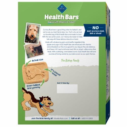 Blue Buffalo Health Bars Apples & Yogurt Dog Treats Perspective: back