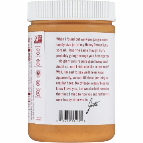 Justin's® Honey Peanut Butter Spread Perspective: back