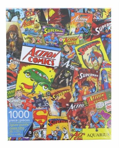 DC Comics Superman Comic Collage 1000 Piece Jigsaw Puzzle Perspective: back