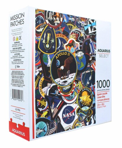 NASA Mission Patches 1000 Piece Jigsaw Puzzle Perspective: back