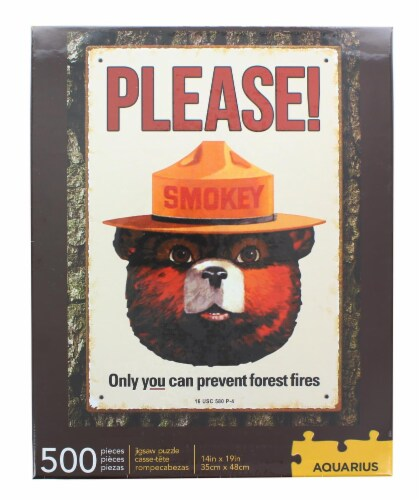 Smokey Bear 500 Piece Jigsaw Puzzle Perspective: back