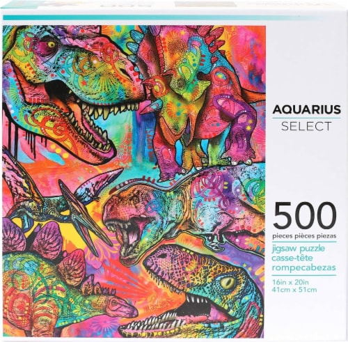 Dean Russo Dinosaurs 500 Piece Jigsaw Puzzle Perspective: back
