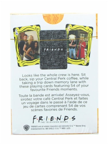 Friends Cast Playing Cards | 52 Card Deck + 2 Jokers Perspective: back