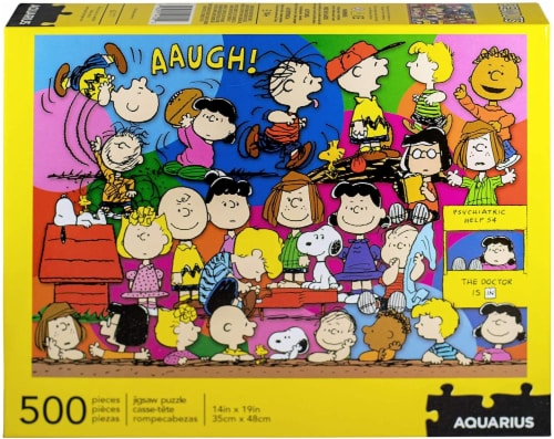 Peanuts Cast 500 Piece Jigsaw Puzzle Perspective: back