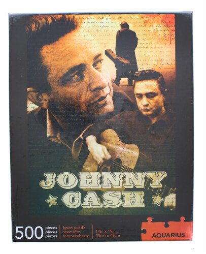 Johnny Cash 500 Piece Jigsaw Puzzle Perspective: back