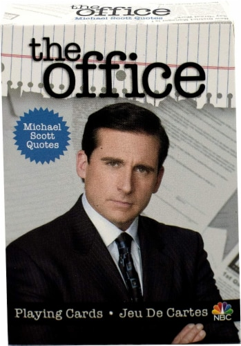The Office Michael Quotes Playing Cards | 52 Card Deck + 2 Jokers Perspective: back