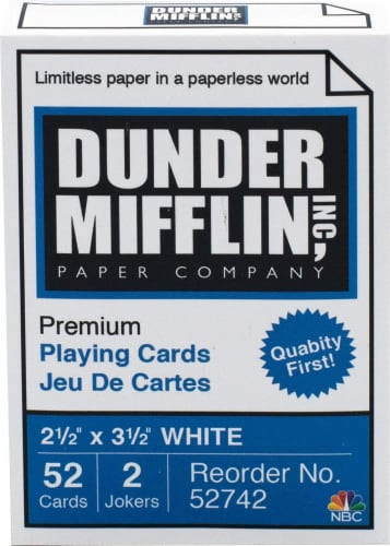 The Office Dunder Mifflin Playing Cards | 52 Card Deck + 2 Jokers Perspective: back