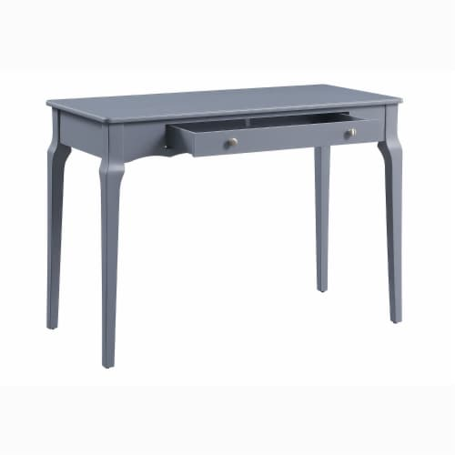 ACME Furniture 93019 Alsen Classical Wooden Writing Desk with 1 Drawer, Gray Perspective: back