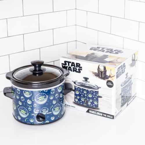 Uncanny Brands Star Wars The Mandalorian 2-Quart Slow Cooker- Kitchen Appliance-Baby Yoda Perspective: back