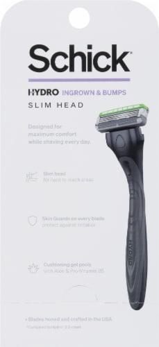 Schick Hydro 3 Skin Comfort Slim Head Sensitive Razor and Cartridges Perspective: back