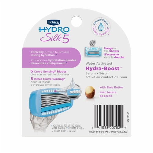 Schick Hydro Silk 5 Razor Cartridges Perspective: back