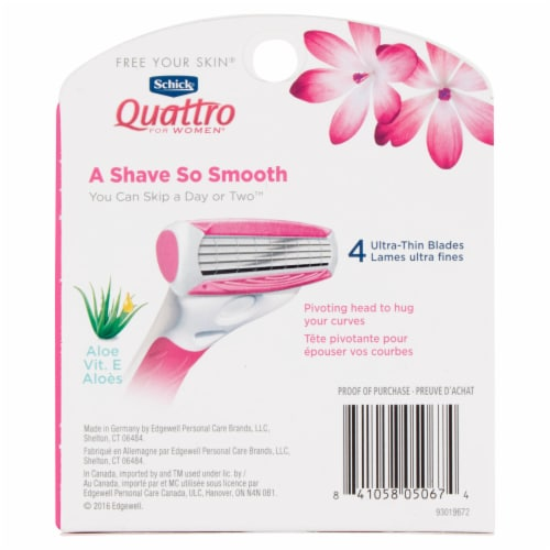 Schick Quattro For Women Blade Refill Value Pack Perspective: back