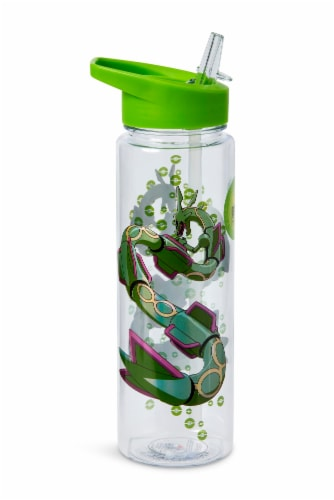 Pokemon Rayquaza 16oz Water Bottle - BPA-Free Reusable Drinking Bottles Perspective: back