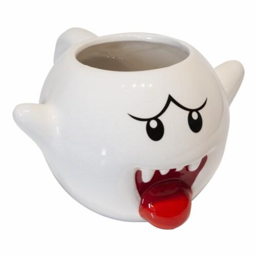 Super Mario Bros White Boo Molded Coffee Mug | 20 oz Perspective: back