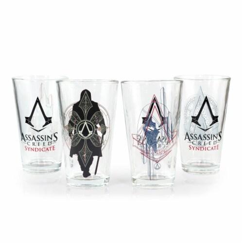 Kroger Official Assassin S Creed Syndicate Pint Glasses Premium Set 16 Oz Set Of 4 Set Of 4