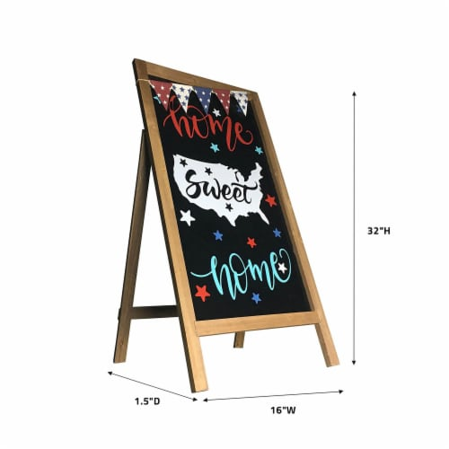 Offex Modern Decorative Home Sweet Home Easel - 32 H Perspective: back