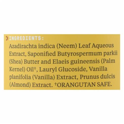 Alaffia Authentic African Black Soap Vanilla Almond Perspective: back