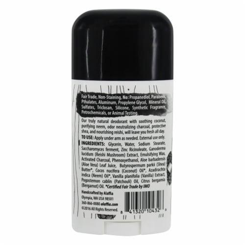 Alaffia Activated Charcoal & Reishi Coconut Bergamot Deodorant Perspective: back