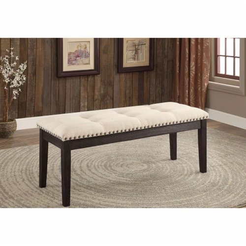 Dodson I Contemporary Bench, Ivory Perspective: back