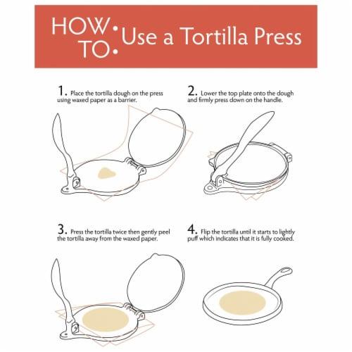 Chef's Secret 8 Inch Tortilla Aluminium Press Perspective: back