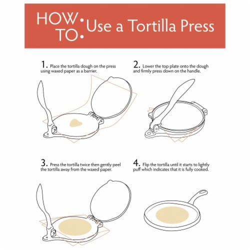 "Chef's Secret 8"" Tortilla Cast Iron Press Perspective: back"
