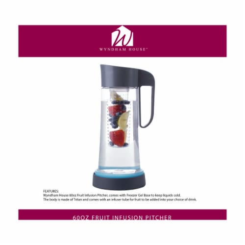 Wyndham House Fruit Infusion Pitcher Holds 60 Ounces Perspective: back