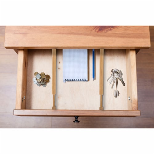 Chef's Secret 2-Piece Spring-Loaded Bamboo Drawer Dividers Perspective: back
