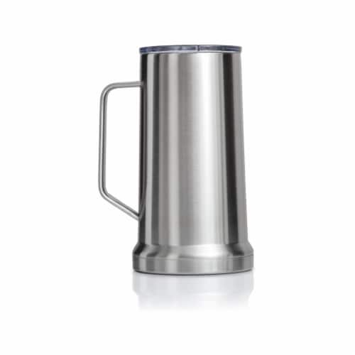 22 Ounce Beer Mug with Lid and Handle, Stainless Steel, Vacuum Insulated Stein Perspective: back