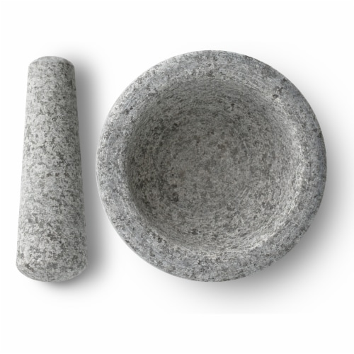 HealthSmart By MAXAM Gray Granite Mortar and Pestle Perspective: back