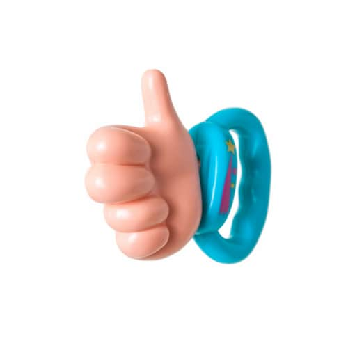 Toys by People® Brain Builders™ - Thumbs Up Pacifier Perspective: back