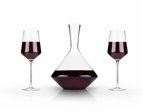 3-Piece Angled Crystal Bordeaux Set by Viski® Perspective: back
