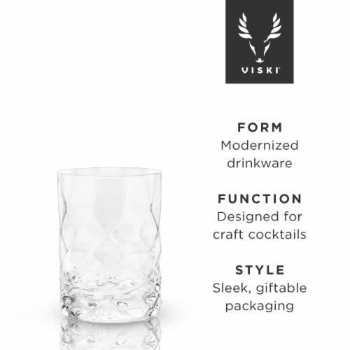 Gem Crystal Tumblers by Viski® Perspective: back