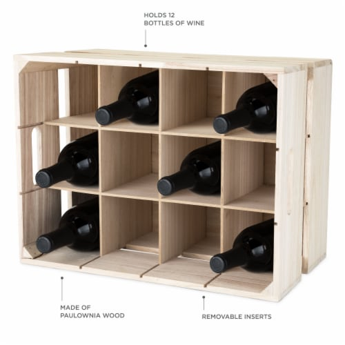 Wooden Crate Wine Rack by True Perspective: back