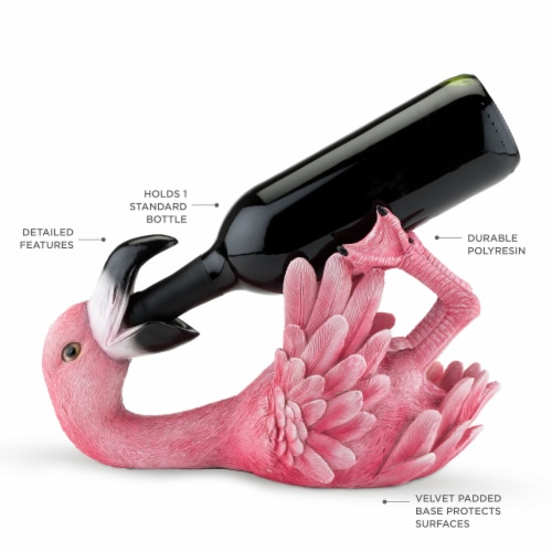 Polyresin Flirty Flamingo Bottle Holder by True Perspective: back