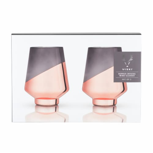 Dipped Crystal Stemless Wine Glasses by Viski® Perspective: back